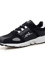 Femme-Décontracté / Sport-Noir / Bleu / Rouge-Talon Plat-Confort-Sneakers-Tissu
