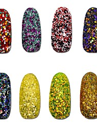8pcs, one set Nail Art Décoration strass Perles Maquillage cosmétique Nail Art Design
