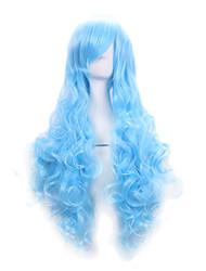 del color del bule luz vendedora caliente sintéticas pelucas cosplay pelucas baratas para las mujeres del partido