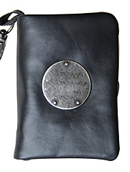 Men Cowhide Casual Card & ID Holder