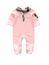 малыш Блуза-На каждый день,Однотонный,Хлопок,Зима / Весна / Осень-Розовый / Белый