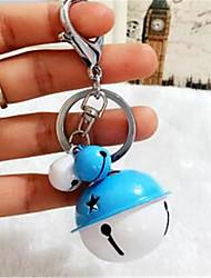 versão coreana do anel criativo metal cor de doces porta-chaves dos desenhos animados diy lindo casal pingente de bolsa de carro