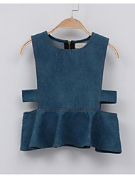 Girl's Casual/Daily Solid VestCotton Fall Blue