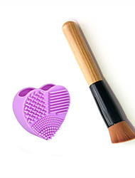 1pcs Foundation Brush Synthetic Hair Professional / Purple Plastic Wash Egg