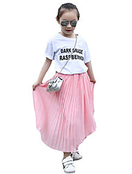 Girl's Casual/Daily Solid SkirtOthers Summer Black / Pink / White