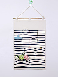 Thirteen Pockets Behind The Door Print Big Capacity Storage Bag Random Colors