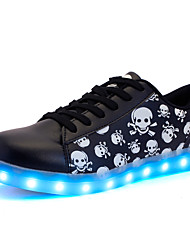 Unisex Sneakers Spring / Summer / Fall / Winter Comfort Leather Outdoor / Athletic / Casual Led Luminous Light Shoes /  USB Light Led Sh Black Walking