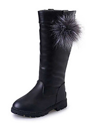Girl's Boots Spring / Fall / Winter Snow Boots / Motorcycle Boots / Bootie / Comfort Leather Outdoor / Casual Slip-on