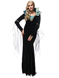 Female Vampire Costumes Halloween Costumes For Women Slim Long Queen Dress Gothic Witch Vampire Costumes For Women