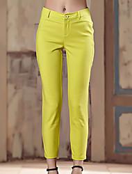 Pantaloni Da donna Skinny Semplice Cotone / Poliestere / Elastene Anelastico