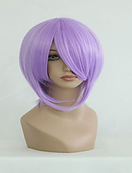 New Japanese Anime Lucky Star Tsukasa Cute 35cm Short Light Purple Cosplay Wig