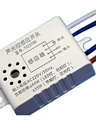 dos envases para vender llevó sensor de energía interruptor de la luz que funciona con sonido