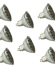GU5.3(MR16) LED Spotlight MR16 27 SMD 5050 450 lm Warm White Cool White Dimmable Decorative V 8 pcs