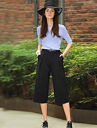 Pantalon Aux femmes Costume simple Rayonne / Nylon / Spandex Micro-élastique