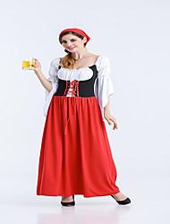 Costumi Cosplay / Vestito da Serata Elegante Mago/Strega / Completo Cameriera / Oktoberfest Feste/vacanze Costumi Halloween Rosso