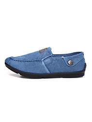 Men's Sneakers Spring / Fall Comfort Denim Casual Flat Heel Slip-on Blue / Gray / Navy Sneaker