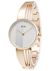 Damen Modeuhr Armbanduhr Quartz / Edelstahl Band Cool Bequem Elegante Gold Gold Weiß