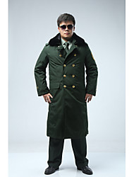 Hiking Softshell Jacket Men's Thermal / Warm /Protective / Thick Winter Tactel Dark GreenM / L / XL / XXL