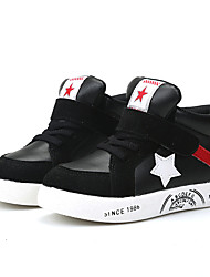 Boys Grils Sneakers Spring  / Fall / Winter Comfort Leather Outdoor / Athletic / Casual Zipper Black / Red Walking