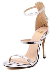 Women's Sandals Open Toe Fleece Platform Shoes Stiletto Hollow-out Heel Buckle with Black/Pink/Blue Colors