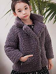Girls' Casual/Daily Solid Suit & Blazer,Others Winter Long Sleeve