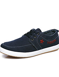 Men's Sneakers Spring / Fall Comfort Denim Casual Flat Heel Blue / Gray / Navy Sneaker