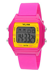 Vilam Kids' Sport Watch Wrist watch Punk Colorful Digital Rubber Band Heart shape Candy color Rainbow Flower Pearls Multi-Colored