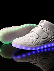 Men's LED Shoes Sneakers Comfort Synthetic Casual Flat Heel Magic Tape / LED / Lace-up Black / Red / White Others