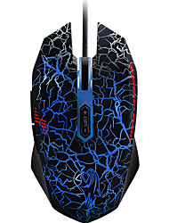 Gaming Mouse Wrangler illuminated programmable Ergonomic mouse Four-Color Breathing crack light 7 independently programmable keys