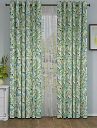 1 панель Окно Лечение Оригинальный рисунок , Лист Гостиная Полиэстер материал Шторы портьеры Украшение дома For Окно