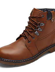 Men's Boots Spring / Fall / Winter Others Cowhide Casual Lace-up Black / Brown / Khaki Others