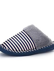 Unissex-Chinelos e flip-flops-Conforto-Rasteiro-Azul / Rosa / Caqui / Coral-Algodão-Casual