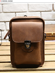 Men PU Casual Mobile Phone Bag