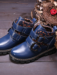 Girl's Boots Comfort Leather Casual Black / Blue / Brown