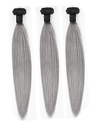Straight Ombre Hair Weaves #1B/Grey Human Hair Extension