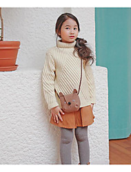 Girl's Casual/Daily Solid Sweater & CardiganAcrylic Fall Beige
