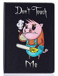 Pour Porte Carte Avec Support Clapet Motif Coque Coque Intégrale Coque Animal Dur Cuir PU pour Apple iPad Air 2 iPad Air