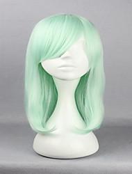 Anime Harajuku Lolita Cosplay Wigs 45cm Long Straight Hair Haircut Light Green Cosplay Wig Fashion Hairstyles