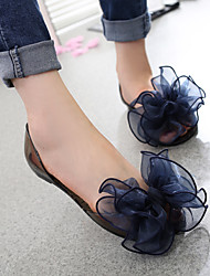 Women's Sandals Summer Comfort PVC Casual Flat Heel Flower Black / Pink Walking