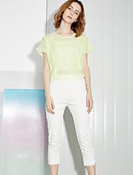 Dámské Jednoduché Kalhoty chinos Bavlna / Spandex Lehce elastické Kalhoty
