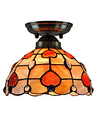 8 inch Retro Tiffany Ceiling Lamp /Shell Shade Flush Mount Living Room  Bedroom Dining Room Kids Room light Fixture