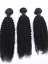 3pcs/lot Brazilian Virgin Hair Kinky Curly Hair Weave 10-30inches Natural Color Human Hair Bundles
