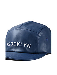 Women Men Casual Leather Alphabet Printing Dome Flat Edge Cap Baseball Outdoor Hip-Hop Sun Hat
