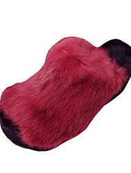 Feminino-Saltos-Plataforma-Rasteiro Plataforma-Preto Vermelho Cinza-Pêlo-Casual