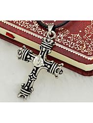 Homens Formato de Cruz Aço Titânio Religioso Personalizado Moda Jóias Para Diário Casual