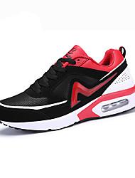 Masculino-Tênis-Conforto-Rasteiro-Laranja / Preto e Vermelho / Azul Real-Couro Ecológico-Casual