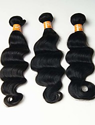6A 3pcs 50g Black Loose Deep Wave Human Hair Weaves Indian Texture Human Hair Extensions