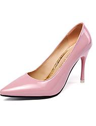 Women's Heels Spring Fall Comfort PU Casual Low Heel Black Pink Red Gray Beige Other