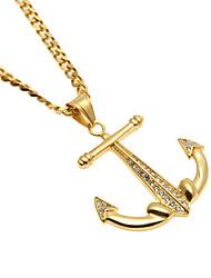 Ожерелье Ожерелья-бархатки Бижутерия Повседневные С логотипом Сплав Мужчины 1шт Подарок Золотой
