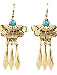 New Tibetan Style Long Spike Statement Earrings for Women